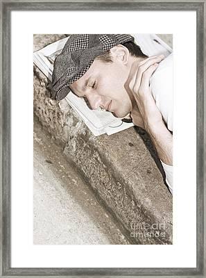 Street Sleeper Framed Print by Jorgo Photography - Wall Art Gallery