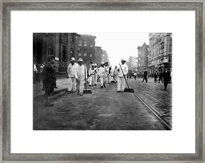 Street Sweepers, 1911 Framed Print by Granger