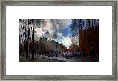 Streetlights 2 Framed Print