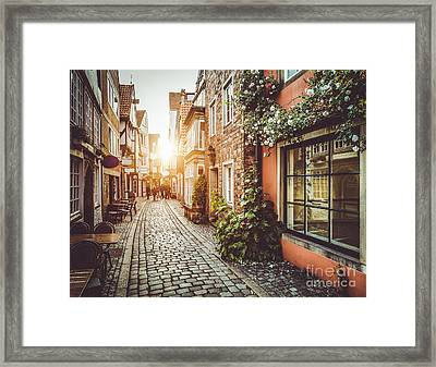 Streets Of Europe Framed Print