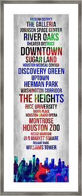 Streets Of Houston 1 Framed Print by Naxart Studio