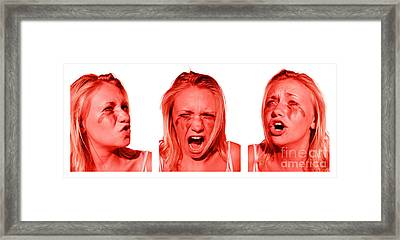 Stress Anger And Sadness Framed Print by Jorgo Photography - Wall Art Gallery