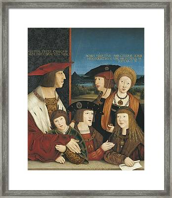 Strigel, Bernhard 1460-1528. Emperor Framed Print by Everett