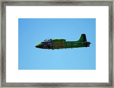 Strikemaster Jet, Warbirds Over Wanaka Framed Print