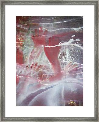 Framed Print featuring the painting String Theory - Praise by Carrie Maurer