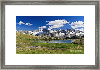 Framed Print featuring the photograph Strino Lake - Italy by Antonio Scarpi
