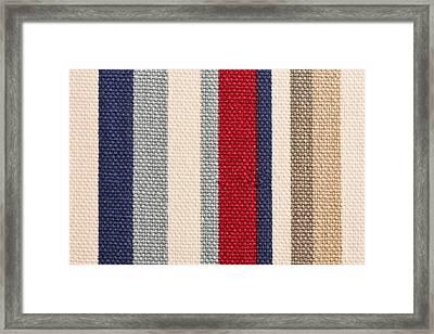 Striped Cloth Framed Print by Tom Gowanlock