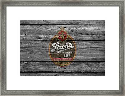 Strohs Beer Framed Print by Joe Hamilton