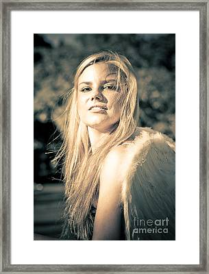Strong Confident And Beautiful Female Angel Framed Print by Jorgo Photography - Wall Art Gallery