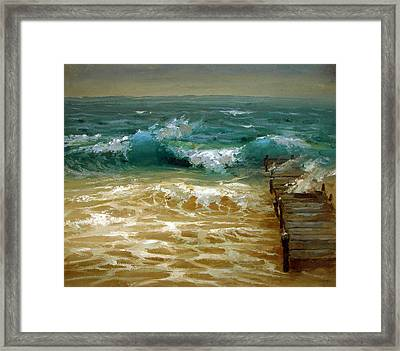 Strong Wind Framed Print