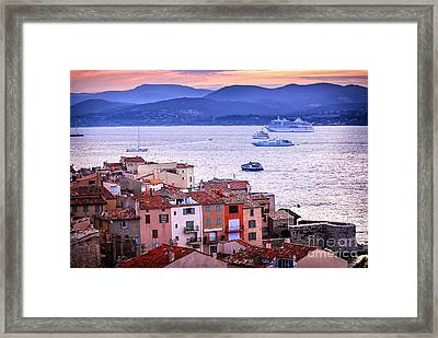 St.tropez At Sunset Framed Print by Elena Elisseeva