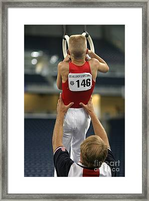 Student And Coach Framed Print