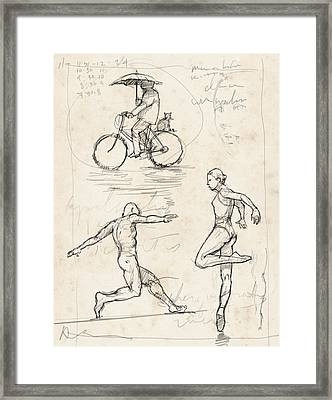 Studies Framed Print by H James Hoff