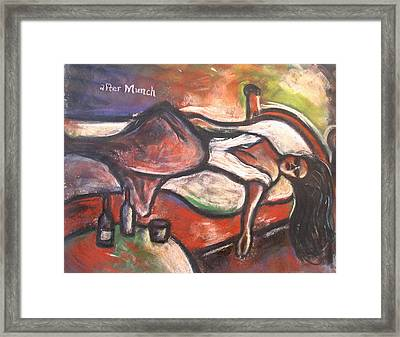 Study After Munch The Day After Framed Print by Kenneth Agnello