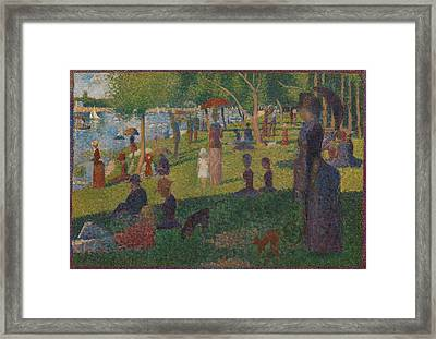 Study For A Sunday On La Grande Jatte Framed Print by Georges Seurat