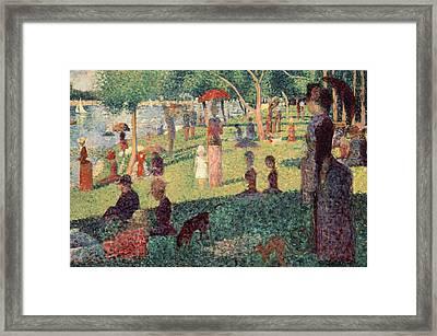Study On La Grande Jatte Framed Print by Georges Seurat
