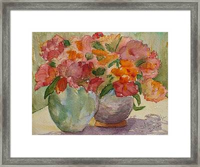 Study Framed Print by Stella Schaefer