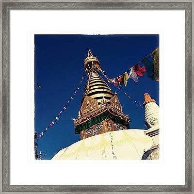 Stupa Swayambhunath Framed Print
