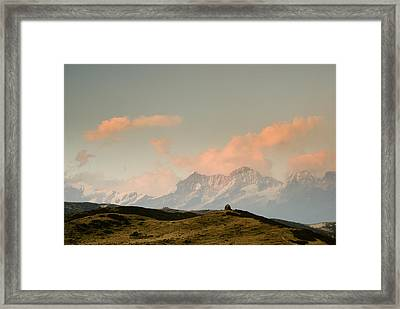 Stupas And The Himalayas Framed Print by Helix Games Photography