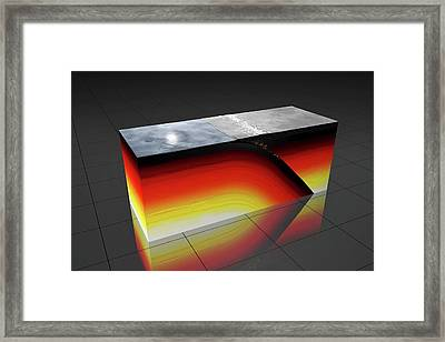 Subduction Zone Framed Print by Peter Matulavich