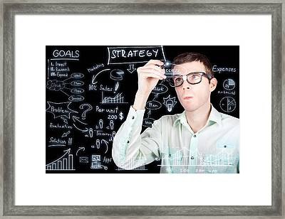 Success In Planning A Smart Business Strategy Framed Print by Jorgo Photography - Wall Art Gallery