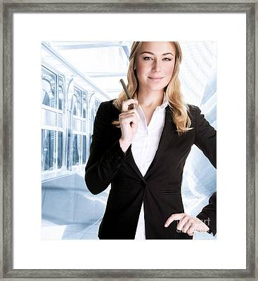 Successful Business Woman Framed Print