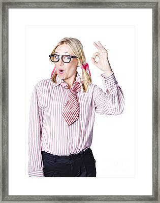 Successful Businesswoman Framed Print by Jorgo Photography - Wall Art Gallery