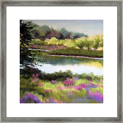 Sudbury River Framed Print by Jeanne Rosier Smith
