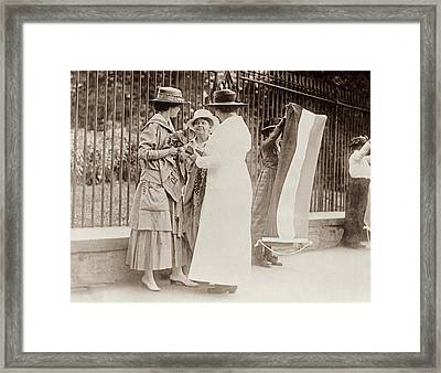 Suffragettes, 1917 Framed Print