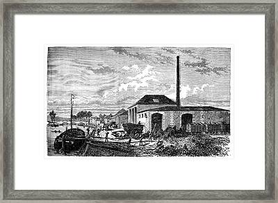 Sugar Beet Industry Framed Print by Science Photo Library
