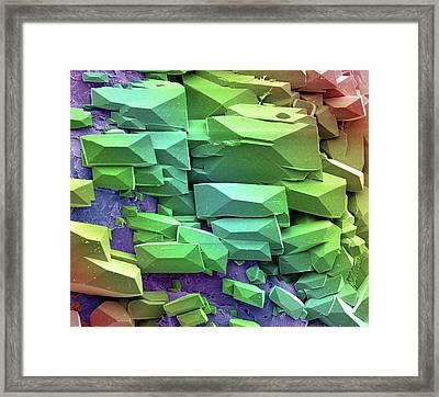 Sugar Crystals Framed Print by Steve Gschmeissner
