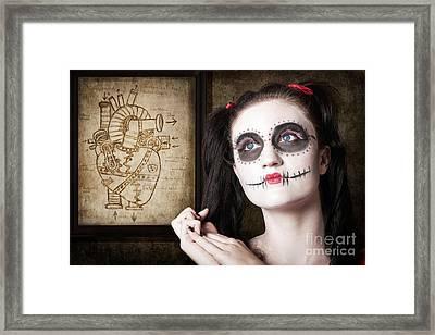 Sugar Skull Mechanical Romance Framed Print by Jorgo Photography - Wall Art Gallery