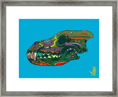 Framed Print featuring the digital art Sugar Wolf by Nelson Dedos Garcia