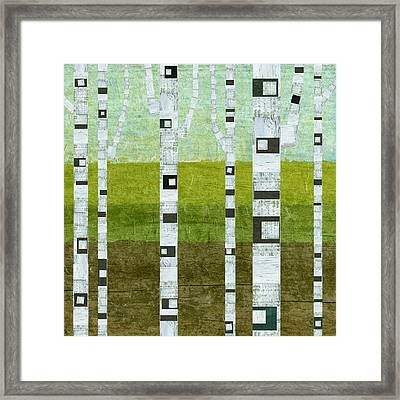 Summer Birches  Framed Print by Michelle Calkins