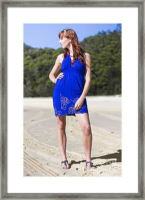 Summer Fashion Style Framed Print by Jorgo Photography - Wall Art Gallery