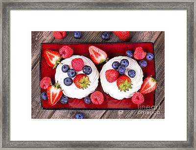 Summer Fruit Platter Framed Print by Jane Rix