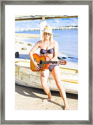 Summer Fun And Entertainment Framed Print