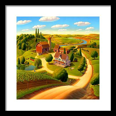 Rural Scene Framed Prints