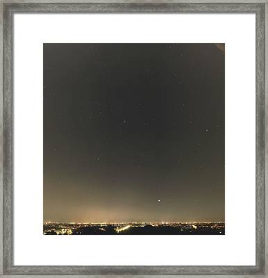 Summer Stars And Light Pollution Framed Print