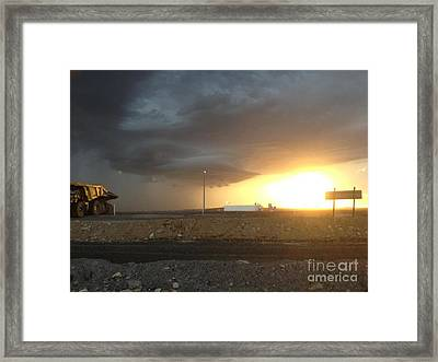 Summer Storm Framed Print by Barry Olsen