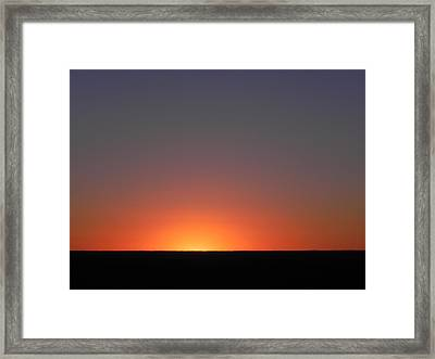 Summer Sunrise In Colorado Framed Print
