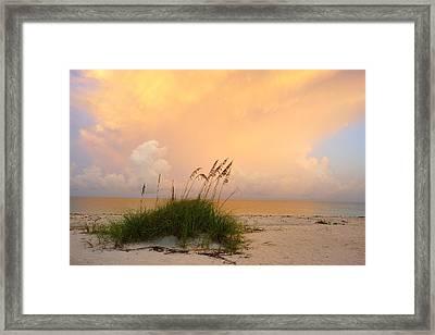 Summer Sunrise On Nokomis Beach Framed Print