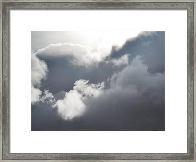 Framed Print featuring the photograph Sun Amongst The Clouds by Alohi Fujimoto