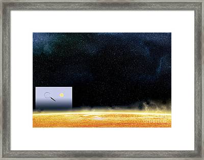 Sun And Betelgeuse, Artwork Framed Print by Claus Lunau