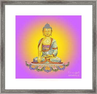 Sun Buddha Framed Print