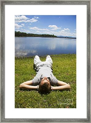 Sun Nap Framed Print by Jorgo Photography - Wall Art Gallery