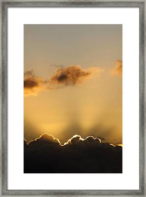 Sun Rays And Dark Clouds Framed Print