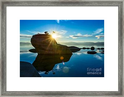 Sun Star Mirror Framed Print by Jamie Pham