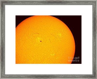 Sun With Sunspots 1710 & 1711, 2013 Framed Print by John Chumack