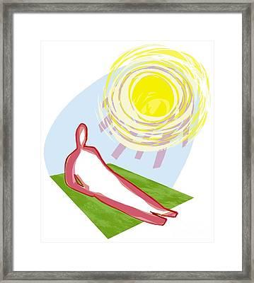 Sunburn, Conceptual Artwork Framed Print